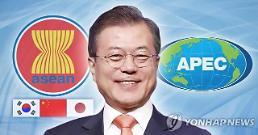 문 대통령, 신남방정책 가속화·한반도문제평화적해결 주력