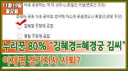 """누리꾼 80% """"김혜경=혜경궁 김씨""""...이재명 경기지사 사퇴? #아주모닝"""