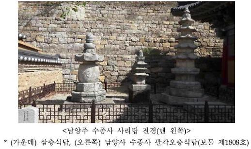 경기 남양주 수종사 사리탑 보물 지정 예고