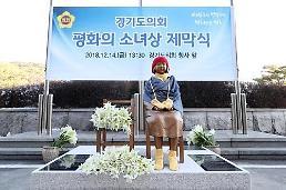 경기도의회, 청사 앞에 평화의 소녀상 제막
