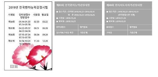 한국어문회, 전국한자능력검정시험 합격자 발표…합격 시 혜택은?