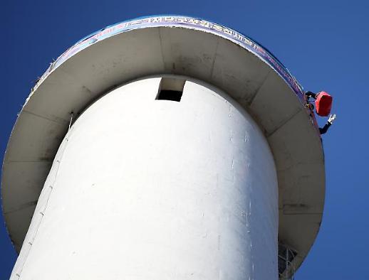 파인텍 굴뚝 농성 409일째 계속…크리스마스에 세계 최장 기록 경신