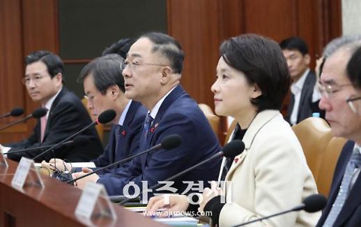 """홍남기 부총리 """"주52시간 탄력근로확대 입법 때까지 연장할 것"""""""