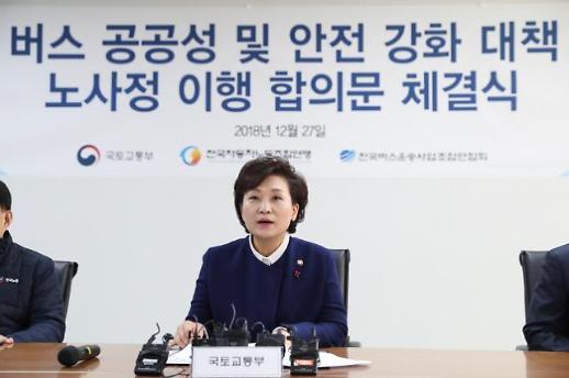 [국정현안점검조정회의] 내년 2월 버스요금 인상…철도시설합동관리단 설치