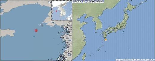 일본·인천 백령도 지진, 피해 없을 것…해일 걱정도 없어