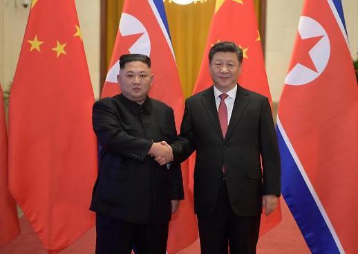 [중국포토] 악수하는 시진핑-김정은... 4차 정상회담서 중요한 공감대 달성