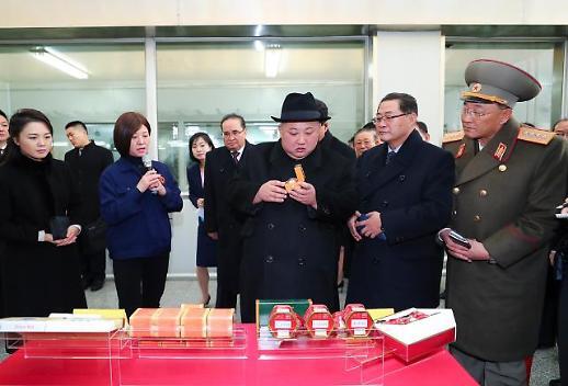[중국포토] 中 제약사 퉁런탕 공장 방문한 김정은