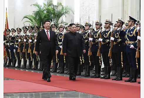 [중국포토] 김정은, 중국 자주 오고 싶네