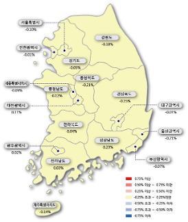 서울 아파트값 -0.10%, 5년 5개월 만에 최대 낙폭...9주 연속 하락