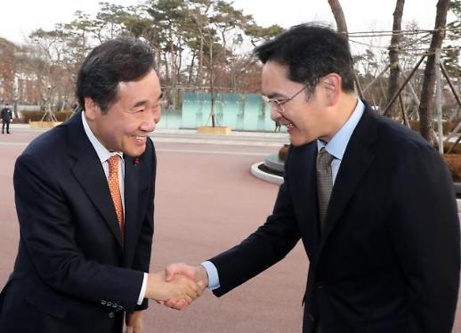 """이낙연 총리 """"지난해 세계 수출 6위 삼성 결정적 역할... 5G도 기대"""""""