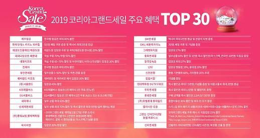 한국의 맛으로 외국인관광객 공략~ 2019코리아그랜드세일 이달 17일 개막