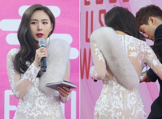 [포토] 서가대 한초임, '보는이 당황하게 만든 의상' (2019 서울가요대상)