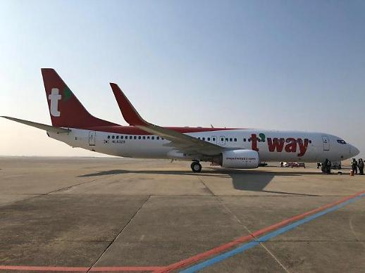 티웨이항공, 작년 국제선 여객 증가율 상장 LCC 중 최대