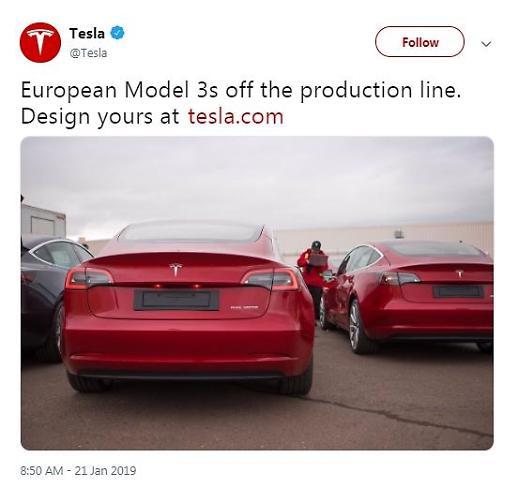 테슬라 전기車 유럽서 달린다...모델3 판매 승인