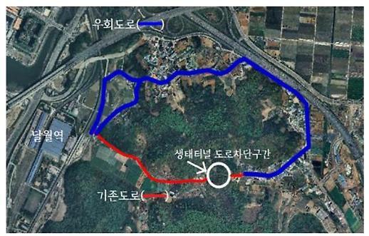 시흥시, '달월역 진입도로 확장공사'로 사업구간 내 기존도로 통행제한