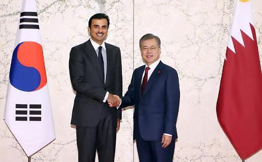 문 대통령, 카타르 국왕과 정상회담…양국관계 한 차원 더 높게 발전 희망