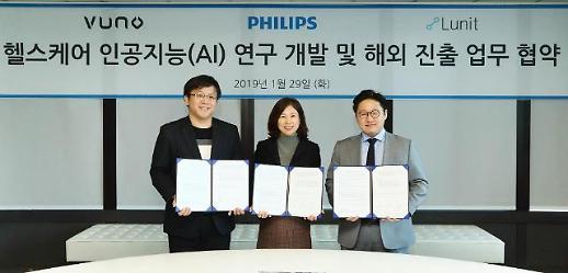 필립스코리아-루닛-뷰노, 의료 인공지능 개발 3자 업무협약 체결
