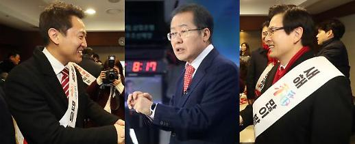 한국당 전대 黃·洪·吳, 설 연휴 반납하고 민심잡기 동분서주