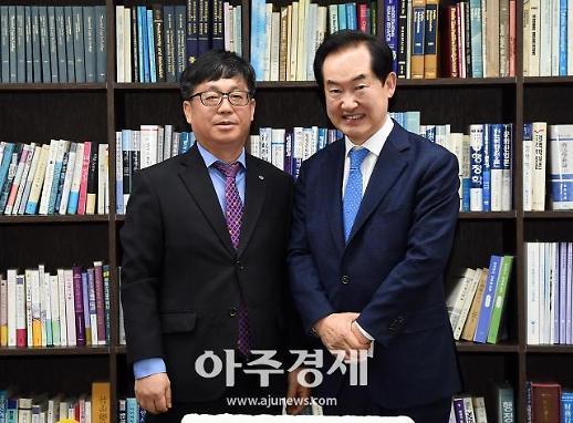 [포토] 신임 북한산도립공원 도봉사무소장 만난 안병용 의정부시장
