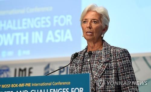 IMF총재 예상보다 성장 둔화…경제폭풍에 대비하라