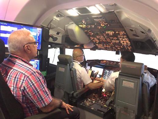 티웨이항공, 싱가포르서 보잉 737 MAX8 시뮬레이터 교육