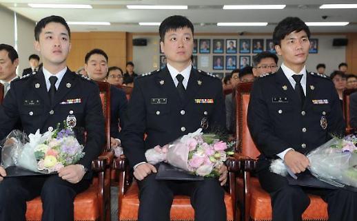 김영춘 해수부 장관, 인명구조 해양경찰관에 표창
