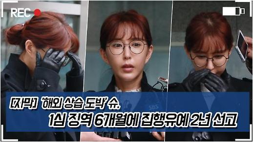 [영상][자막] 해외 상습 도박 슈  1심 징역 6개월에 집행유예 2년 선고