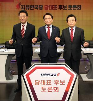 황교안 박근혜 탄핵은 세모…모호한 발언에 오세훈·김진태 맹공