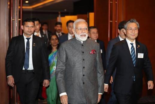 인도 모디 총리, 어색한 한국어로 함께 가면 멀리 갑니다