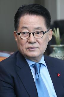 박지원, 일본 자민당 간사장 부인 영결식 참석…의형제처럼 지내왔다