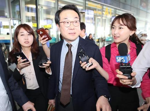[2차 북미정상회담] 이도훈 본부장, 하노이 도착…비건과 협상 조율