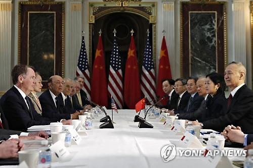 미중 워싱턴 무역협상 이틀 연장..3월말 트럼프-시진핑 담판 전망