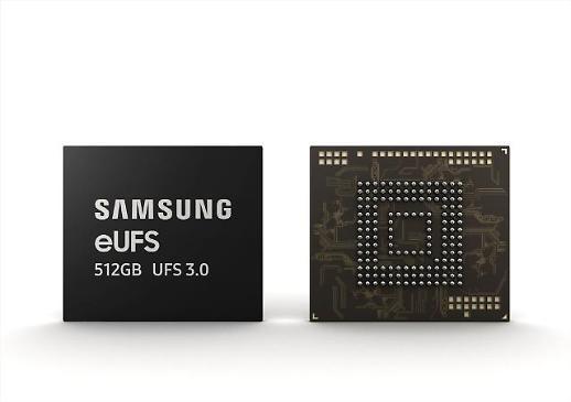 삼성전자, 세계 최초 512GB eUFS 3.0 양산... 풀HD 영화 1편 3초