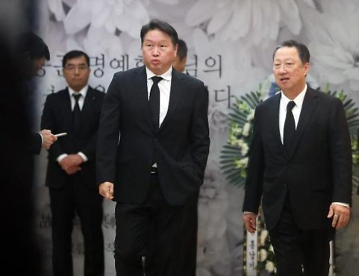 최태원·구광모·구자열 등 故 박용곤 두산 명예회장 빈소 조문행렬