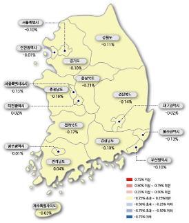 서울 아파트값 18주 연속 하락...송파 전세값 상승세 반전