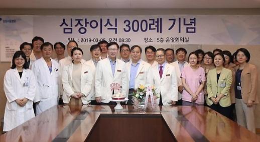 삼성서울병원, 심장이식수술 300례 달성…기념식 진행