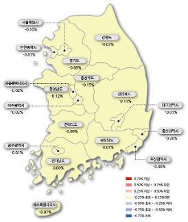 서울 아파트값 19주 연속 하락