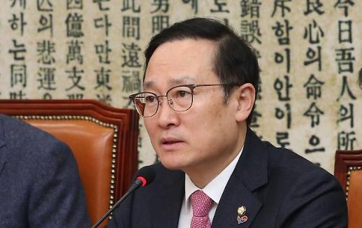 """홍영표 """"한국, 5·18 망언 징계지연 꼼수…4당 힘모아 퇴출"""""""
