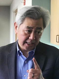 북·미대화 막후채널 앤드루김, 정의용 靑안보실장과 면담