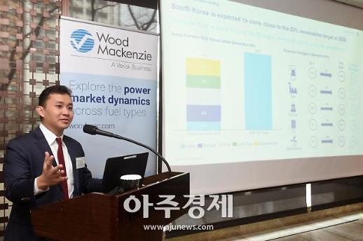 우드맥켄지 韓 2030 재생에너지 목표 달성 어려울 수도…비중 17% 전망