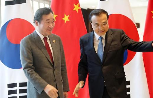 """리커창 만난 이 총리, 미세먼지 """"중국 역할 중요하다"""""""