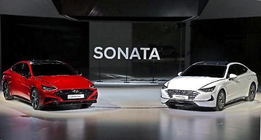 [2019 서울모터쇼] 신형 쏘나타 하이브리드·1.6 터보 공개… 솔라 루프 최초 적용