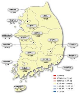 서울 아파트값 20주 연속 하락…총 1.62% 내려