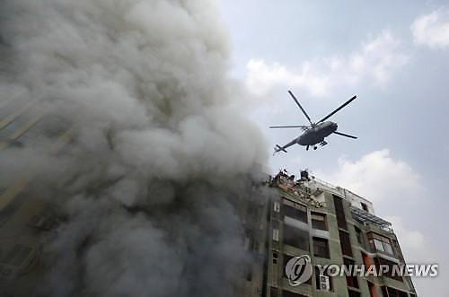 [글로벌포토]방글라데시 화재 참사..19명 사망·73명 부상