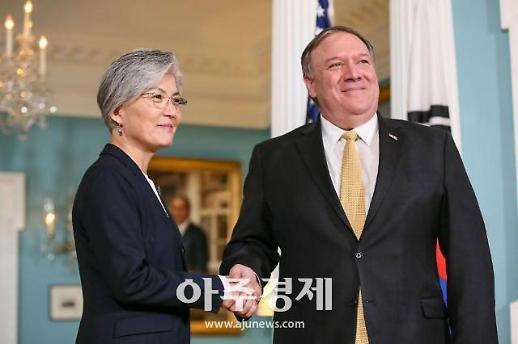 강경화 대북정책 한·미 지향점 완벽하게 일치…공조 어느 때보다 굳건