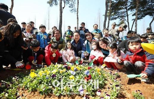 경기도, 제74회 식목일 맞아 평택 포승산단서 '미세먼지 차단숲' 조성 행사