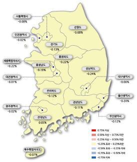서울 아파트값 21주 연속 하락…매수심리 위축, 급매물만 거래