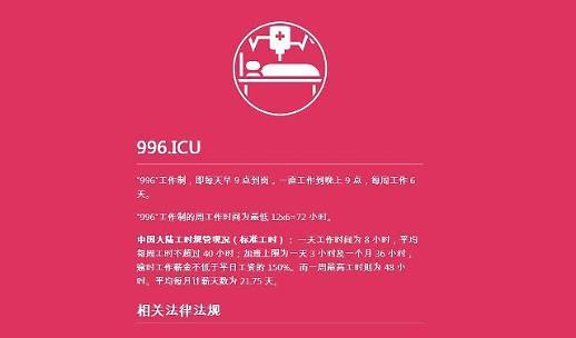 """중국 안티996룰 확산... 장시간 노동 안돼"""""""