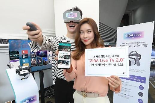 KT, 실감미디어 '기가라이브 TV 2.0' 출시