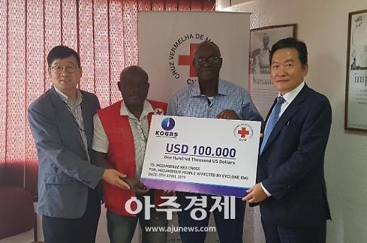 가스공사, 모잠비크 사이클론 피해 복구에 구호성금 10만 달러 지원